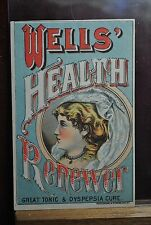 VICT MEDICINE IMAGE OF BEAUTY WITH LACY SCARF - WELLS HEALTH RENEWER, CURE