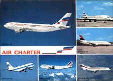 diverse Flugzeuge 1991 Postkarte Mehrbild-AK gebraucht Air Charter Air France