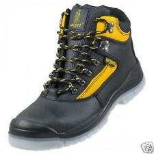 MENS LEATHER SAFETY WORK BOOTS STEEL TOE CAP SHOES TRAINER HIKER SIZE URGENT