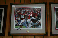 Alabama Football framed THE LAST PASS signed art print by Daniel Moore