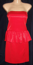 ASOS SUPER SEXY SILKY SIZE 12 RED PARTY DRESS BNWFD WOW!!