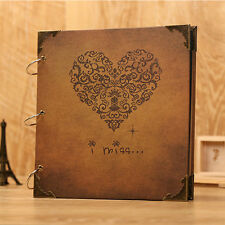 Retro Photo Album DIY Scrapbook Diary Gift Notebook Memory Love Anniversary