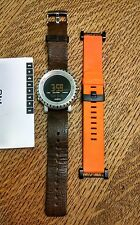 Suunto Core Watch Leather and orange Rubber Straps Altimeter Barometer Compass