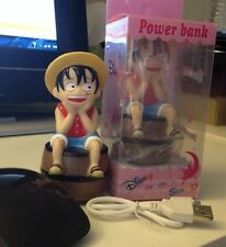 New LovelyCute Straw Hat Monkey D Luffy Power Bank Portable Rechargeable