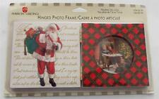 New American Greetings Christmas Hinged Wood Photo Frame Santa DISCONTINUED Item