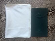 Genuine Rolex Dark Green Velvet Watch Pouch Bag And Cleaning Polishing Cloth.New