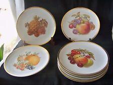 8 Vintage PMR Bavaria Germany Golden Crown E & R 1886 Porc Harvest Fruit Plates