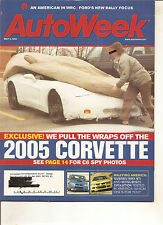 Autoweek May 5, 2003 - Subaru WRX STi - Mitsubishi Evolution - 2005 Corvette