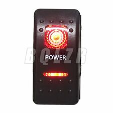 Plastic Waterproof DC12V-24V ON-OFF Power  Rocker Switch Dual Red LED Light 5Pin