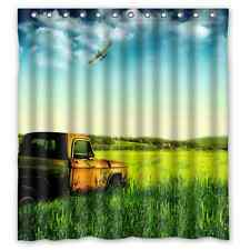 Custom Brand New Truck Car Waterproof Bathroom Shower Curtain 66 x 72 Inch