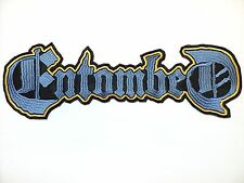 entombed  blue   shaped  logo  EMBROIDERED BACK PATCH