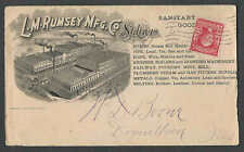 1904 COVER ST LOUIS MO L M RUMSEY MFG CO SANITARY GOODS PIPE PUMPS SEE INFO