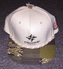 CROOKS & CASTLES ARMY NAUTICAL ROPE SNAPBACK IN GREEN AND TAN!!!