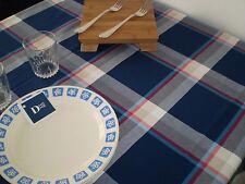 TOVAGLIA , tablecloth , tinto filo 150 x 220 cm , 100 % cotone tinto filo BLU