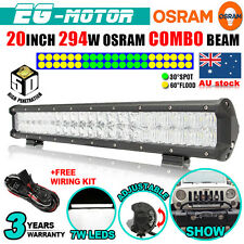 20Inch 294W OSRAM 5D LED WORK LIGHT BAR SPOT FLOOD COMBO OFFROAD LAMP 4WD Pickup