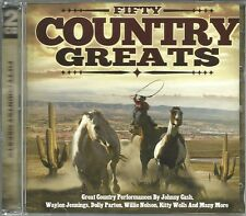 FIFTY COUNTRY GREATS - 2 CD BOX SET - JOHNNY CASH, WILLIE NELSON & MORE