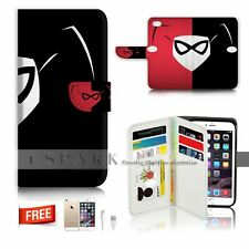 iPhone 5C Cards Wallet Case Cover! S0137 Harley Quinn