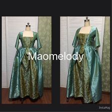 Marie Antoinette Baroque Cosplay Costume Embroidered Dress Green