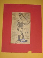 NY Yankees Frankie Crosetti Signed/Autographed Baseball Newspaper Photo/Free SH!