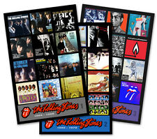"ROLLING STONES triple pack magnet set lot (three 4.5"" x 3.5"" magnets) beatles"