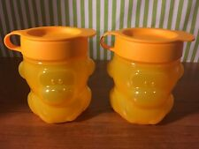 Tupperware New Monkey Snack Cups Set of Two 10oz Yellow