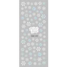 1 Sheet Crystal Snowflake Style Nail Art Water Transfer Sticker Decal DIY DS-239
