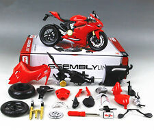Maisto 1:12 Ducati 1199 Panigale Assembly line kit Motorcycle Bike Model Toy