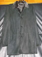 Cole Haan Leather and Fur Coat ~ Size Large