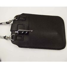 Soft Leather neck shoulder strap case bag for Samsung Galaxy s3 iphone 5 5s 5c