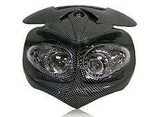 Head Light Dual Sport Street Fighter Carbon Naked Bike MX For Kawasaki ER KLX KX