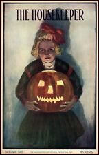 HALLOWEEN 1907 HOUSEKEEPER MAGAZINE COVER PUMPKIN VINTAGE REPRODUCTION POSTER