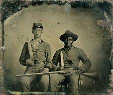 "1861 Photo, Negro, Civil War, Slavery, Bowie Knife, revolvers, guns, 14""x11"""