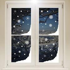 Natale Neve Angoli Finestra Adesivo-Bianco Fiocchi di Neve Natale Decorazione Decalcomania