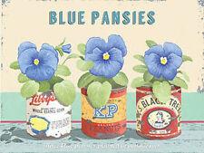Bleu Pensées,Fleur Vintage Maison Jardin Cuisine Salle De Bain nouveauté
