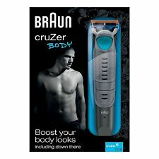 Braun CruZer6 Mens All-Over Body Trimmer Shaver with Gillette Fusion Razor Blade