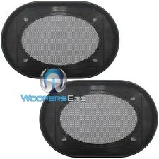 "(2) UNIVERSAL 4""x6"" SPEAKER COAXIAL COMPONENT PROTECTIVE GRILLS COVERS NEW PAIR"
