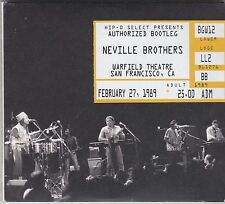 NEVILLE BROTHERS - authorized bootleg / warfield theatre 1989 CD