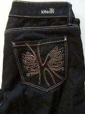 NWOT KITSON Black ROBERTSON Low Rise Boot Cut ROCK ME Butterfly K Jeans 29