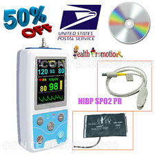2016 Newest Portable Vital Sign Patient Monitor, NIBP+SPO2+PR, PC Software, USA