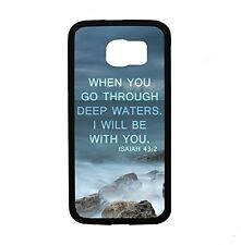 Isaiah 43:2 When You Go Through Deep Waters I Will Be With You for Samsung Galax