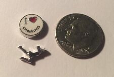 Origami Owl Style I Love Gymnatics Charm Fits Origami Owl Sports Dance