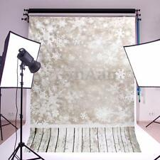 5x7ft Christmas Snow Scene Vinyl Photography Background Studio Backdrops Prop