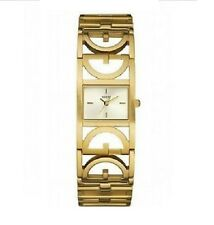 NEW GUESS GOLD TONE 'G' LOGO STEEL BRACELET BAND WOMENS WATCH-U10590L1