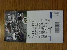 27/07/2013 BIGLIETTO: Birmingham City V Hull City Friendly [] (COMPLETA)