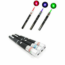 3PCS Powerful Red+ Blue Violet +Green  Light Beam Powerful 5MW Laser Pointer Pen