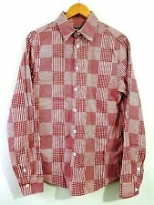 RAF BY RAF SIMONS CHECKERED BUTTON DOWN SHIRT RED SIZE 2