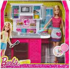 Barbie Doll and Kitchen Furniture Set New!! CFB62
