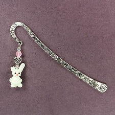 BUNNY RABBIT BOOKMARK Totem Lampwork Celtic Heart Love Attraction Animal Magick