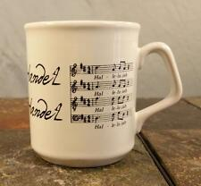 """Hallelujah"" Composer George Friderick Handel Music Song Lyrics - Coffee Mug Cup"