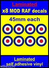 Laminated 8x 45mm RAF Roundel The Who Mod Target Scooter Decals stickers vespa